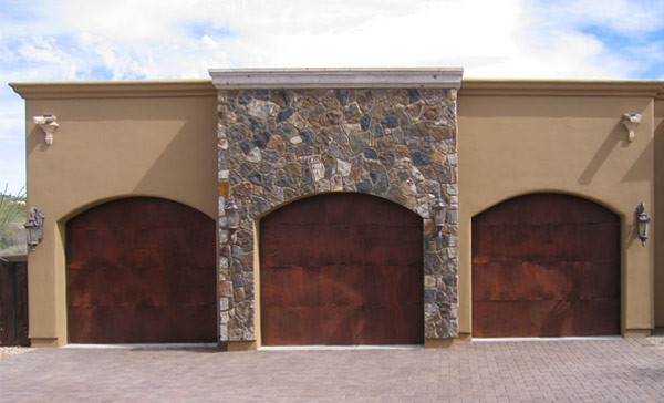 Rustic Steel Garage Door