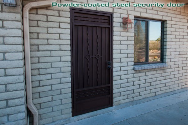 Powder-Coated Steel Security Door
