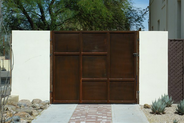 Rustic Steel Gate