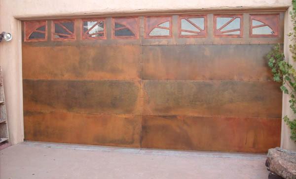 Rustic Steel Garage Door